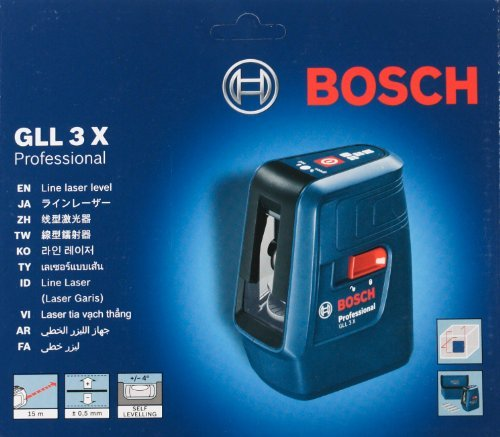 Bosch GLL 3X Professional Cross Line Laser level with 3 lines