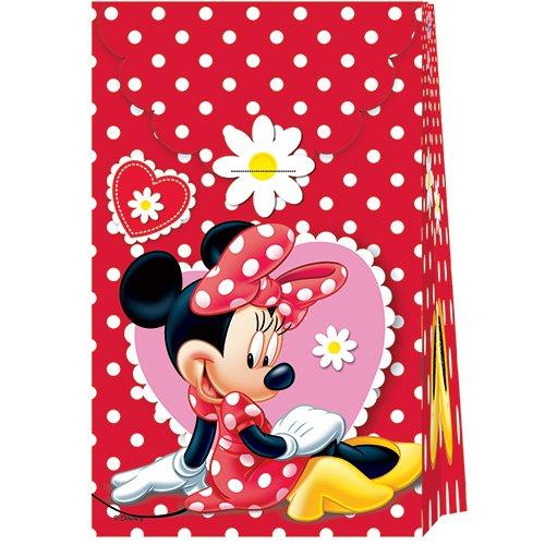 Disney Minnie Mouse Party Tüten aus Papier mit Sticker zum Schließen Kindergeburtstag (Party-tüten Minnie Mouse)
