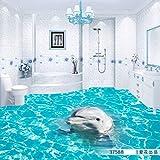 BZDHWWH 3D Boden Wandbild Aquarium Schlafzimmer Konferenz Halle Gehweg Lobby Tragen Rutschfeste Boden Tapete Wandbild,110Cm X 160Cm