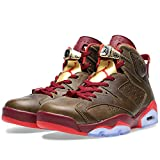 Nike Air Jordan 6 Retro 'Cigar' Raw Umber/Team Red Trainer Size 8.5 UK