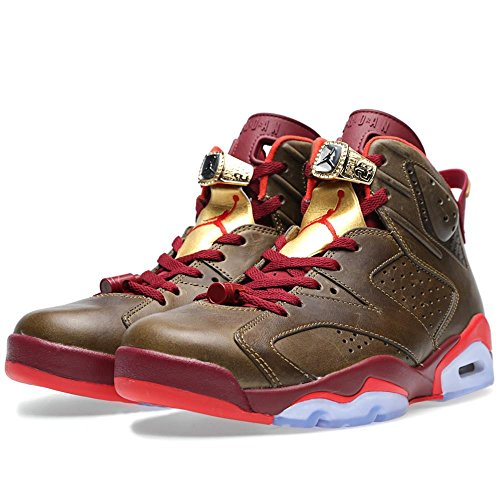 Nike Air Jordan 6 Retro (Nike Air Jordan 6 Retro 'Cigar' Raw Umber/Team Red Trainer Size 8.5 UK)