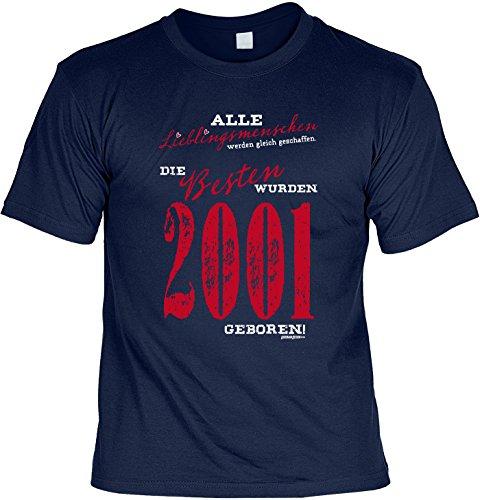 T-Shirt zum Geburtstag: Alle Lieblingsmenschen werden gleich geschaffen. Die Besten wurden 2001..- Tolle Geschenkidee - Baujahr 2001 - Farbe: navyblau Navyblau
