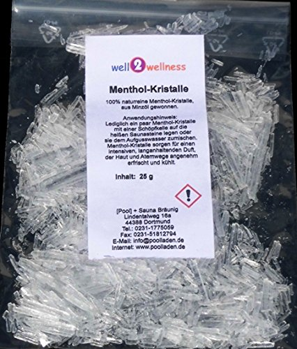 Saunaaufguss – Konzentrate Set 'Gesundheit + Wohlbefinden' mit 7 x 125 ml + gratis 25 g Mentholkristalle - 3