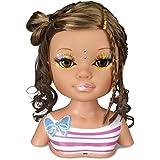 Nancy - Un día de secretos de belleza: muñeca morena, accesorios de maquillaje y peluquería (Famosa 700013522)