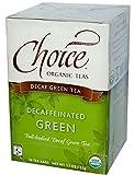 Choice Organic Teas - descafeinado té verde - 16 bolsitas de té
