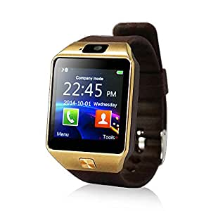 Yuntab SW01 Watch Bluetooth Smart Watch Fitness Wrist Wrap Watch Phone with Camera Touch Screen for Samsung HTC LG Android Phone Smartphone support SIM card Black Brown