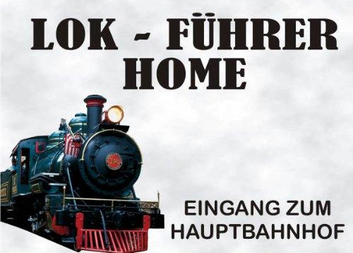 INDIGOS UG - Türschild FunSchild - SE09 DIN A4 laminiert für Eisenbahn Lokomotive Lok Führer Fans Schild - für Käfig, Zwinger, Haustier, Tür, Tier, Aquarium