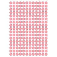 """612 Deko Klebepunkte aus Design Folie, Farbton """"Dahlia Pink matt"""", 10 mm, Kreise Punkte Aufkleber"""