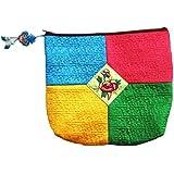 EYX Formula Korean New Fashion Colorful Embroidery Essential Travel Bag Cosmetic Bag