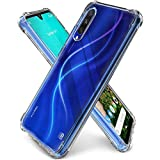 CELLUTION Anti Drop Shockproof with Bumper Corners with Air Cushion Technology TPU Back Cover Case for Xiaomi Mi A3 (Transparent)