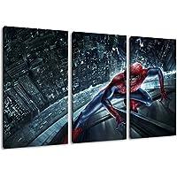Imagen de Spiderman sobre lienzo, (Total Tamaño: 120x80 cm) enormes Fotos completamente enmarcado con camilla, imprima Arte en cuadro de la pared con marco