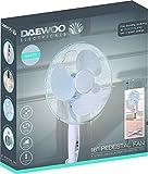 "Daewoo 16"" Electric Oscillating Floor Standing Pedestal Air Cooling Fan (White)"