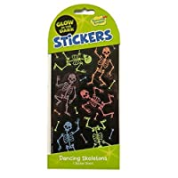 Peaceable Kingdom Glow In the Dark Stickers - Dancing Skeletons - Art, Craft & Room Decoration