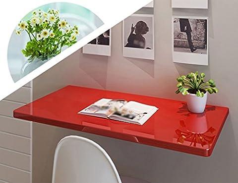 ZXLDP Computer-Schreibtisch-Lern-Tisch Wand-Laptop-Schreibtisch-Farbe Faltbarer Esstisch Büro-Tisch-Größe Wahlweise Freigestellt ( größe : 120*40cm (Büro Platz Klapptisch)