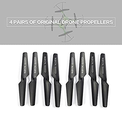 Swiftswan 4 Pairs Mini Drone Propellers Parts Portable CW/CCW Propellers Compatible JJR/C H31 GoolRC T6 RC Quadcopter