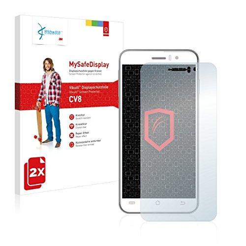 2x Vikuiti MySafeBildschirm CV8 Bildschirmschutz Schutzfolie für Jiayu G4 JY-G4 (Ultraklar, strak haftend, versiegelt Kratzer)