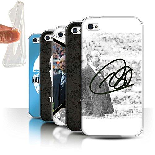 Offiziell Newcastle United FC Hülle / Gel TPU Case für Apple iPhone 4/4S / Pack 8pcs Muster / NUFC Rafa Benítez Kollektion Pack 8pcs