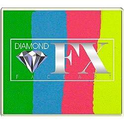 Diamond FX Split Cakes 50g cara torta dividida pintura ~ feliz cumpleaños (rs50-98)
