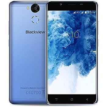 Blackview P2 Lite 4G Dual SIM Smartphone Sbloccato, 5,5 Pollici Android 7.0 Octa-Core 3GB RAM + 32GB ROM Con Cellulare 6000mAh Batteria Grande Capacità - 8MP + 13MP Fotocamere - Corpo in Metallo Pieno (Blu)
