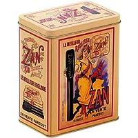 FRANZOSICH VINTAGE METALLBOX 12x8x15cm RETRO WERBUNG TOURNEE DU CHAT NOIR PARIS