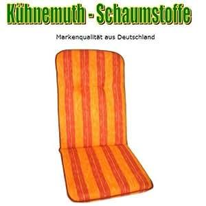 Polsterauflage Streifen orange Relax 170x50x7cm