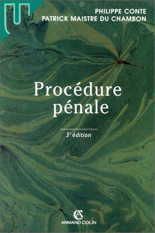Procédure pénale par Philippe Conte