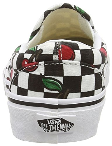 Vans Classic Slip-On, Baskets Basses Mixte Adulte Noir - Nero (Black (Cherry Checkers - Black/True White))