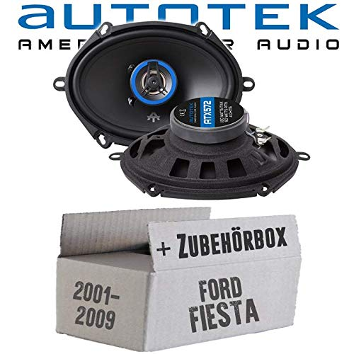 Lautsprecher Boxen Autotek ATX-572 | 2-Wege oval 13x18cm Koax Lautsprecher 5\'x7\' Auto Einbauzubehör - Einbauset für Ford Fiesta 6 Front Heck - JUST SOUND best choice for caraudio