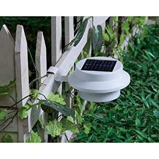A-szcxtop(TM) New Solar Powered 3 LED Fence Gutter Light Outdoor Garden Wall Roof Lamp