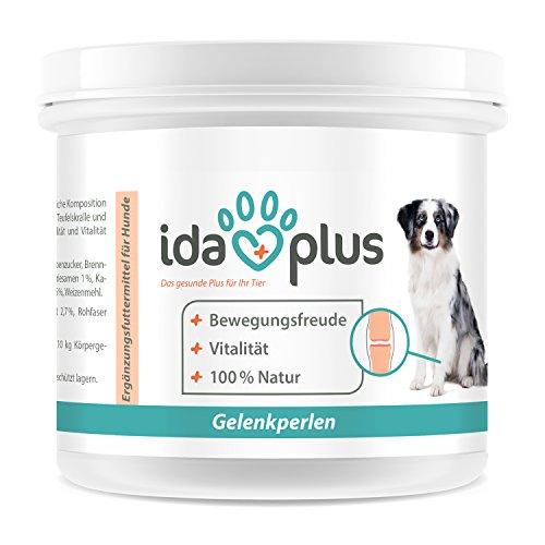 Ida Plus Gelenk Perlen (150 g) - für Bewegungsfreude des Hundes aus 100% Natur, Bewegung und Vitalität für Hunde, die die Bewegungsfreude verloren haben, mit Teufelskralle und Brennnessel