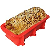 Nonstick Silicone Bread and Loaf Tin, BPA Free ! Without Chemical Coating,Just Pop Out! Easy Release and Baking Mould for Homemade Cakes, Breads, Meatloaf and Quiche