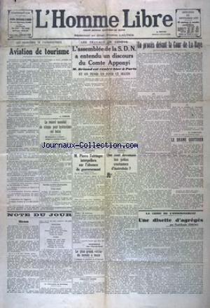 HOMME LIBRE (L') [No 4798] du 11/09/1929