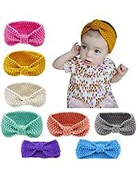 Lot de 8 des bandeaux de la laine de cheveux pour bébés 94c3f3459da