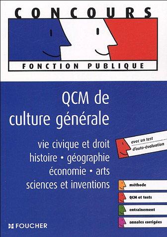 QCM DE CULTURE GENERALE (Ancienne édition)