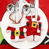 Kostüm Weihnachtsmann Besteck für Weihnachten Dekoration Gedeckter Tisch, Geschenk Santa Geschirr