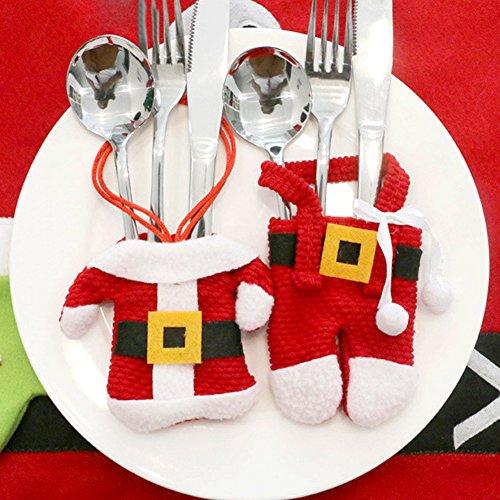 Kostüm Gedeckter Tisch - Kostüm Weihnachtsmann Besteck für Weihnachten Dekoration