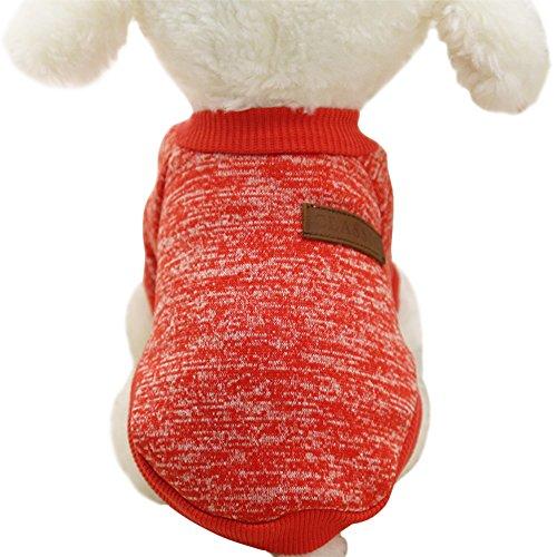 Moolecole klassische Haustier-Kostüm-Herbst-Art- und Weisehaustier-Kapuzenpulli-Hund-Sweatshirt Rot (Pokemon Familie Kostüme)