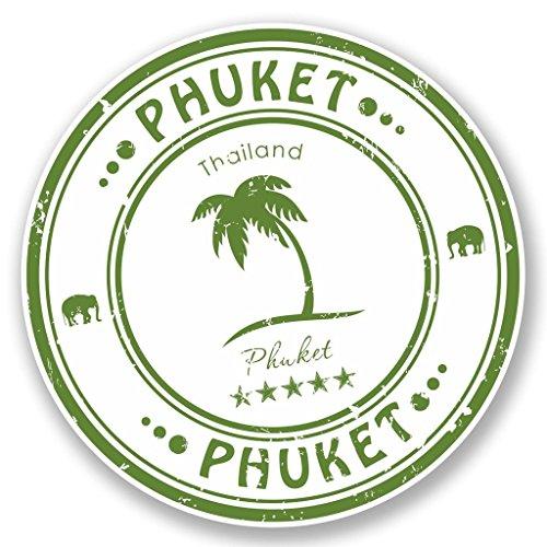Preisvergleich Produktbild 2 x Phuket Thailand Vinyl Aufkleber Aufkleber Laptop Reise Gepäck Auto Ipad Schild Fun 4589 - 15cm / 150mm Wide