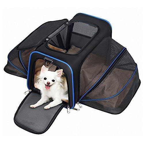 Hundetasche Tragetasche für Hunde Katze Großer und Bequemer Super für Flugzeug Auto mit Abnehmbarer Matte