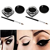 Xinan 2 Stück Mini Eyeliner Gel-Creme mit Make-up Pinsel