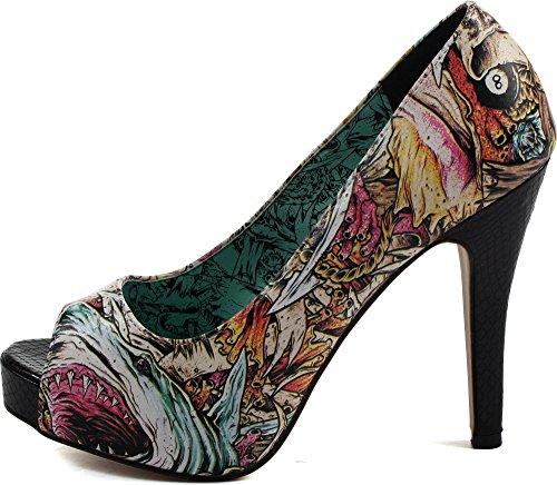 Puño De Hierro, Sandalias Multicolores De Mujer - Multicolor