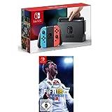 Nintendo Switch Konsole Neon-Rot/Neon-Blau + FIFA 18 - Standard Edition