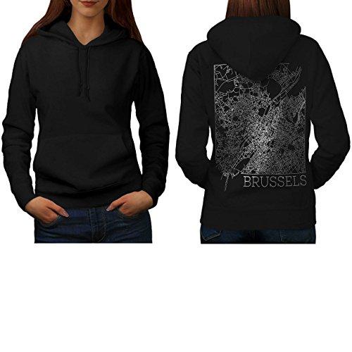 belgium-brussels-map-big-town-women-new-black-s-hoodie-back-wellcoda