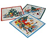 12 Stück Kinder Stoff Taschentücher Kindertaschentücher
