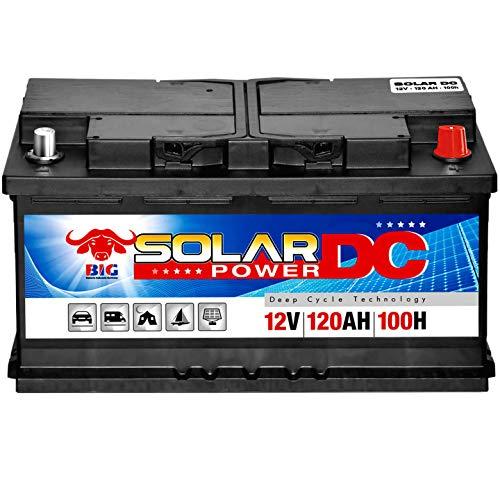 Solarbatterie 120Ah von BIG 12V Versorgungsbatterie Wohnmobil Boote Solar 90Ah 100Ah