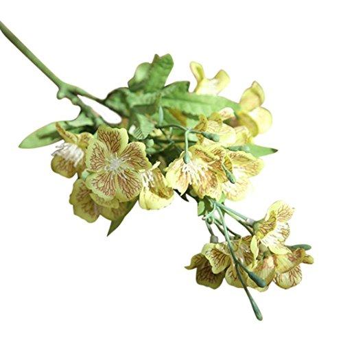 siconght 1Schmetterling Orchidee Künstliche Blume Fake Pflanze Bouquet Phalaenopsis Hochzeit Home Party Decor