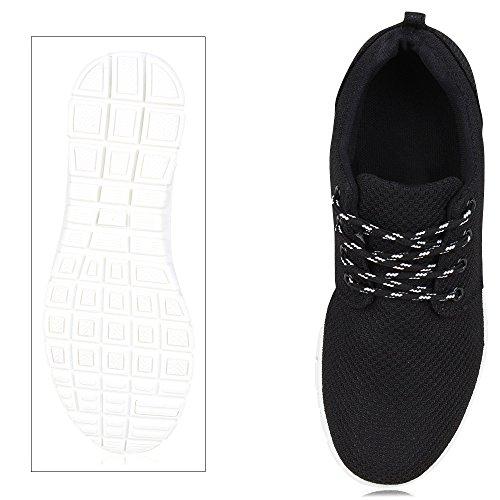Flache Unisex Damen Herren Laufschuhe Profilsohle Sportschuhe Schnüren Sneakers Freizeitschuhe VanHill Black White