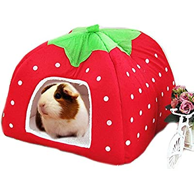 FLAdorepet Rabbit Guinea Pig Hamster House Bed Cute Small Animal Pet Winter Warm Squirrel Hedgehog Chinchilla House Cage Nest Hamster Accessories from FLAdorepet
