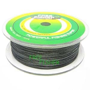 Free Fisher 4 Strands Super Dyneema Strong PE Fishing Braids Green 300m/300+yds 0.8# 0.14mm 7kg 15lb