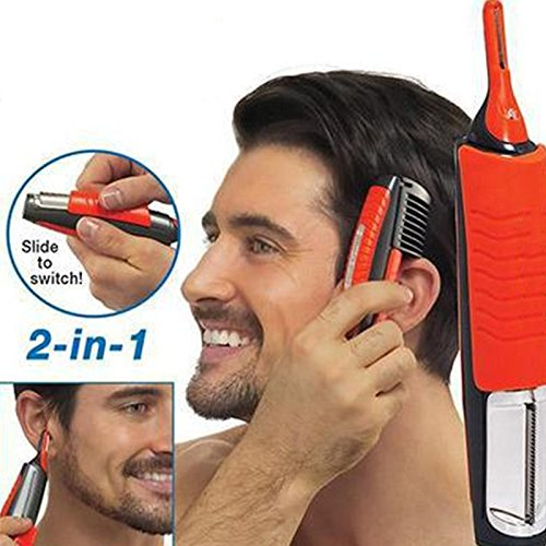 Yiwa Mann 2 in 1 Dual End Trimmer Clipper Micro Personal Bart Haar Touch Trimmer Shaver Grooming Remover Anti-Rutsch-Griff mit LED-Licht - Micro-haar-trimmer